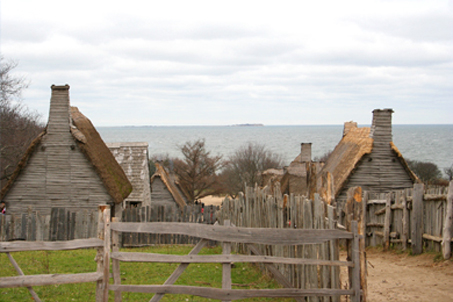 A beautifully overcast day at Plimoth Plantation