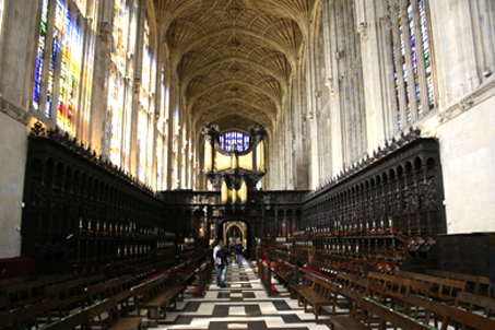 The interior of the King's Chapel...