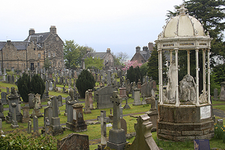 The ancient graveyards behind the church
