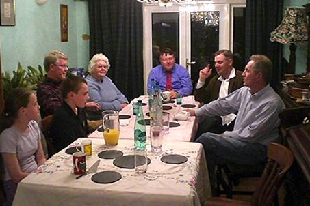 A lovely dinner at the Jones'