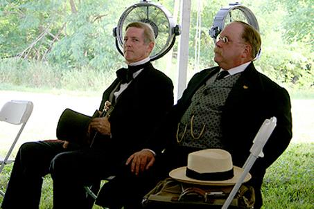 High profile visitors — President Tyler and President Roosevelt