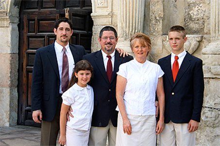 The O'Turley Clan in front of the Alamo