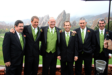 Groomsmen and uncles (L-R) Dad, Jack, Tim, Tyler (groom), Mike and Jim