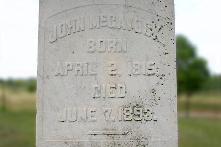 Grave of John McGavock, son of Carnton's founder