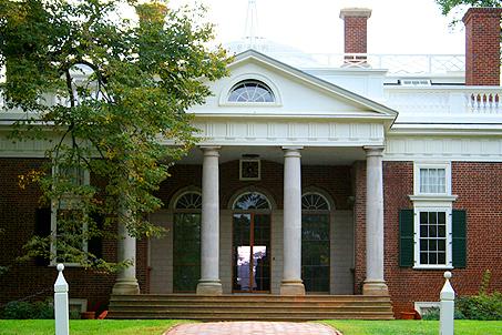 Monticello's front entrance