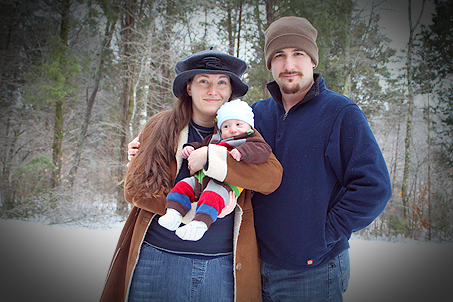 Papa, Mama and Calvin in the Snow
