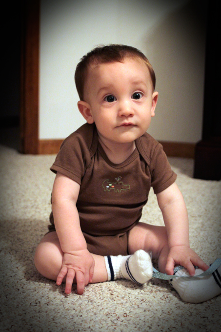 Calvin Blair Turley develops a new and exciting skill — he can now sit on his own! :)