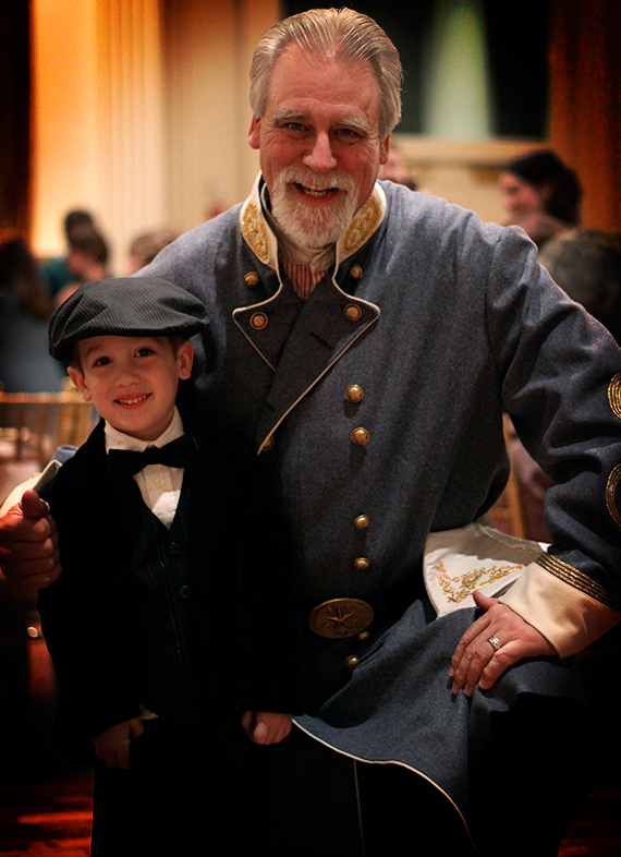 Historian and Turley Family Friend, Bill Potter and His Admirer Calvin Turley