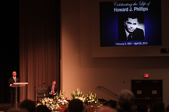 Many Stood to Honor Mr. Phillips and Recount Stories from His Life