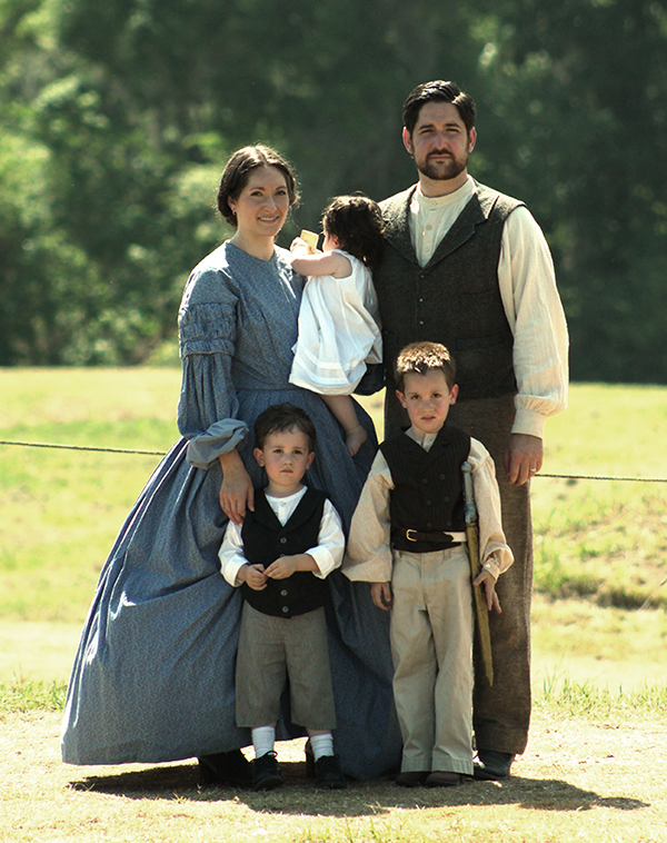 The Whole Family Decked Out in (Mostly) Period Garb