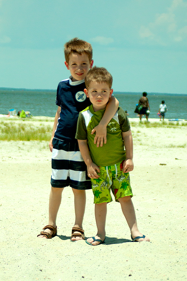 My First Visit to the Beach in 10 Years, and the Children's First Ever