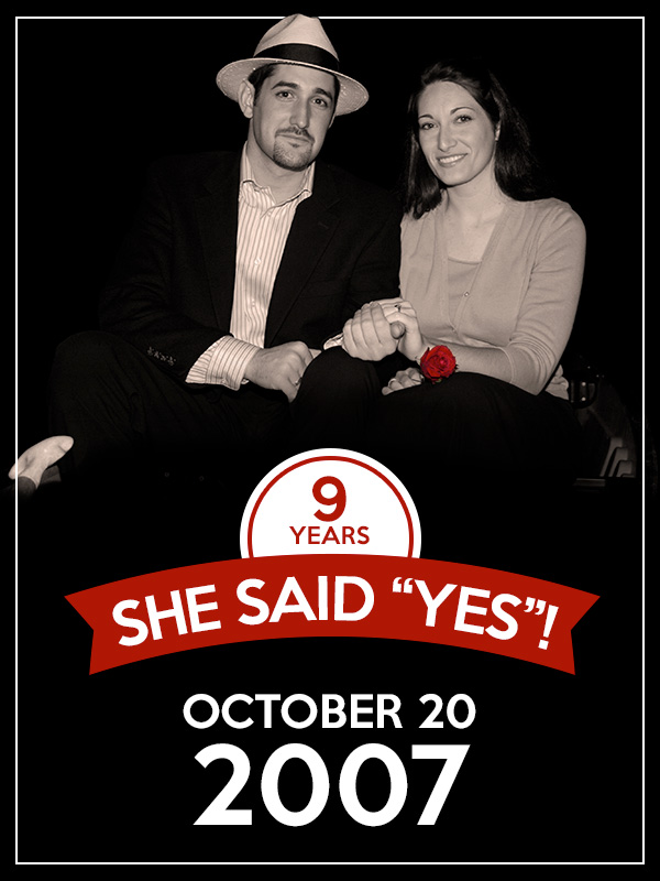 She Said Yes Nine Years Ago Today