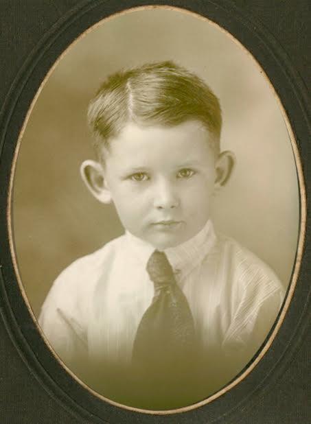 Calvin's Great-Grandfather, Fred Calvin Blair, Jr. — Born October 20, 1913